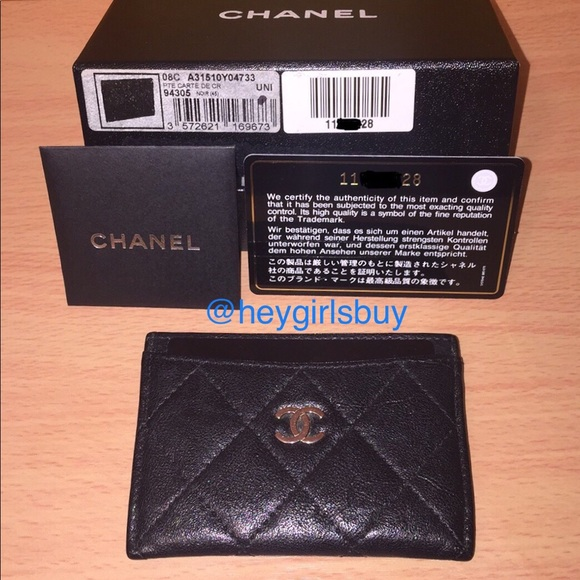 9b2293bb8fd5 CHANEL Accessories | Authentic Cc Black Calfskin Cardholder | Poshmark